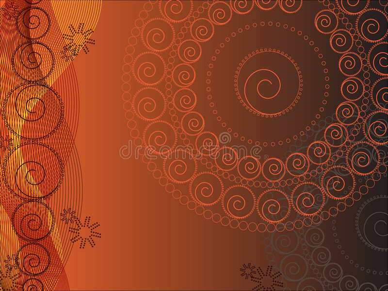 Projeto floral do círculo (vetor) ilustração stock
