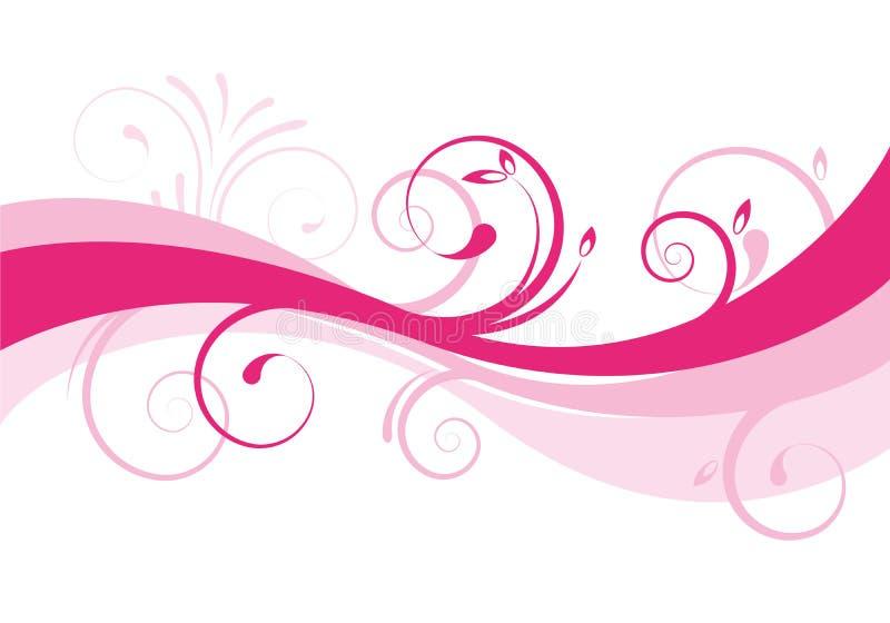 Projeto floral do fundo ilustração royalty free