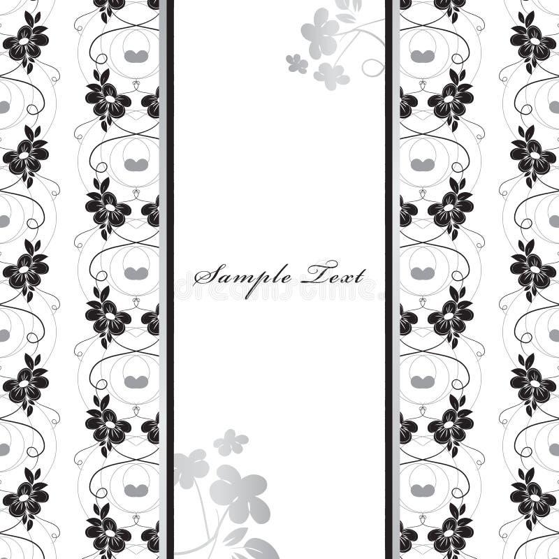 Cartão floral ilustração stock