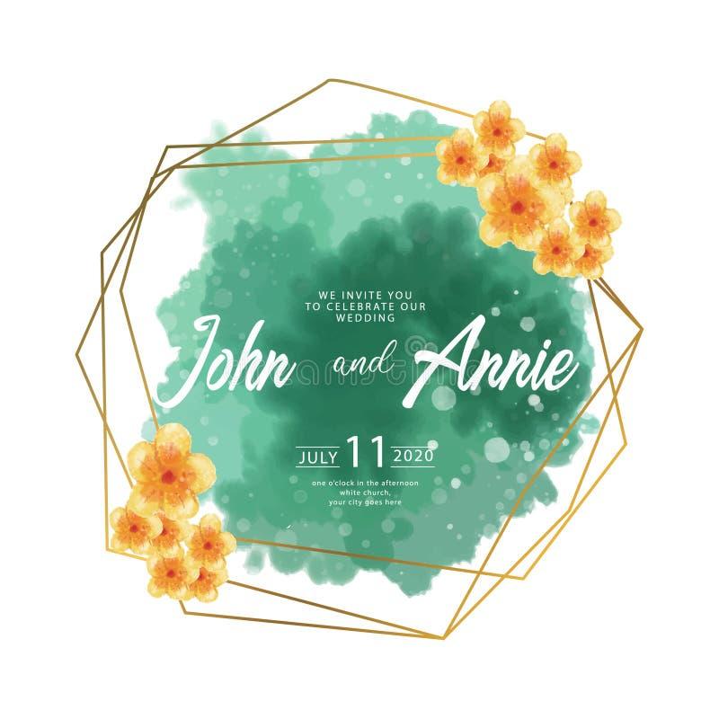 Projeto floral do quadro da aquarela Quadro abstrato da aquarela com motivos florais ilustração stock
