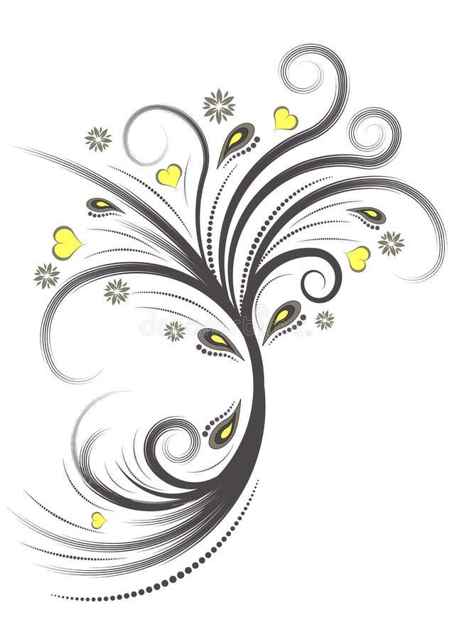 Projeto floral do vetor abstrato ilustração stock