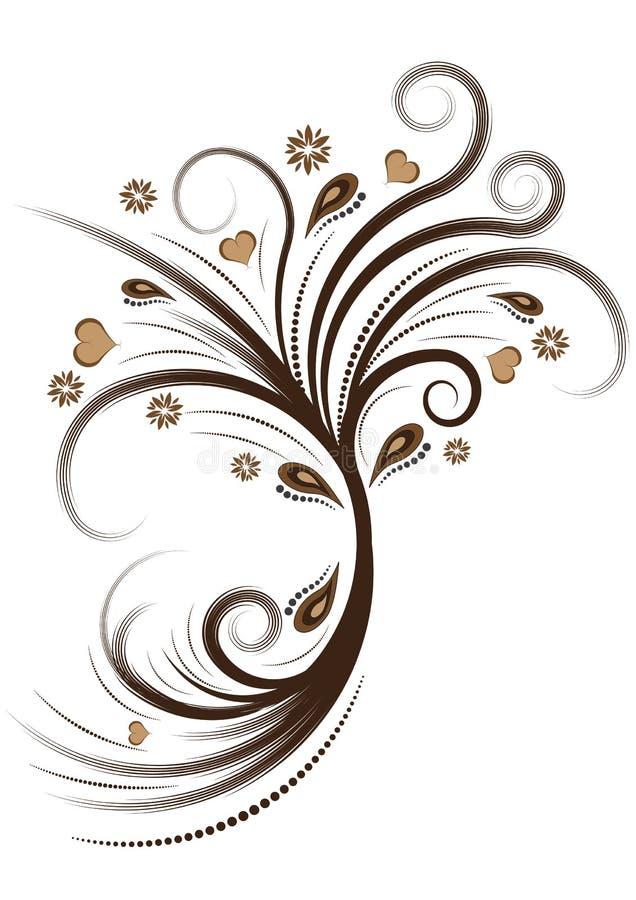 Projeto floral do vetor abstrato ilustração royalty free