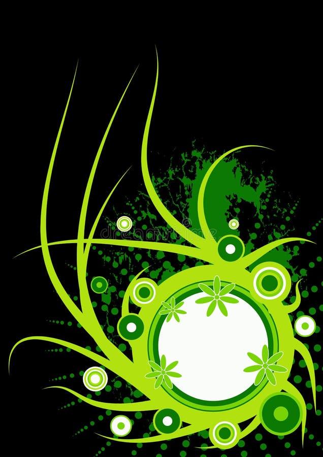 Projeto floral do vetor na moda ilustração do vetor