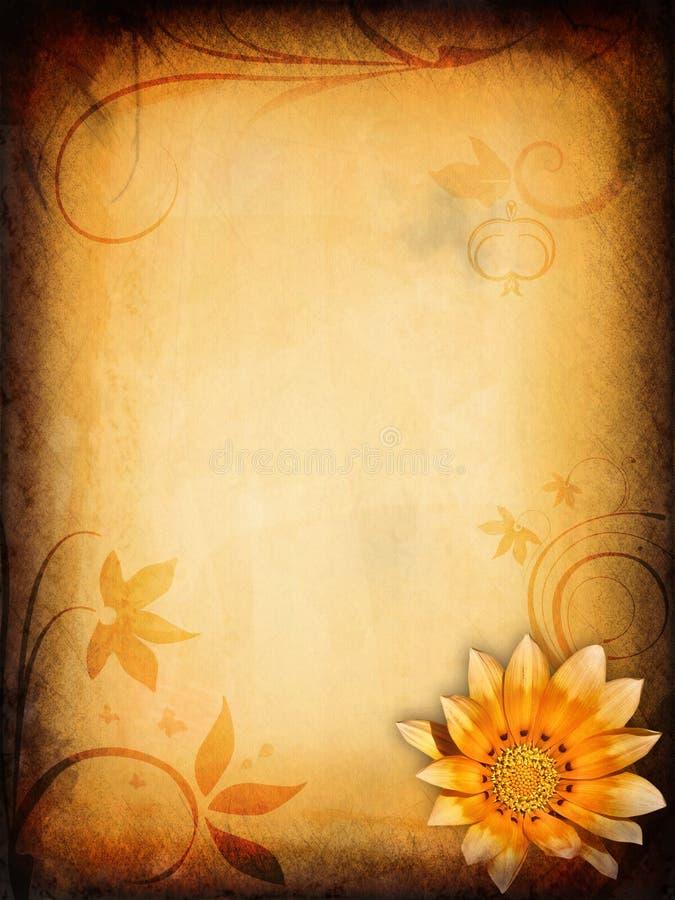 Projeto floral do vintage ilustração do vetor