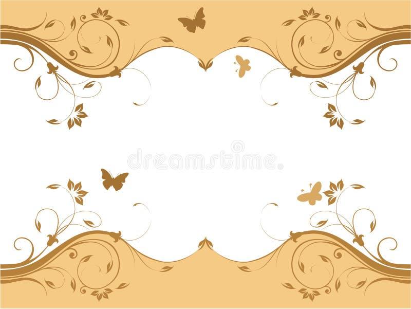 Projeto floral fresco abstrato ilustração stock