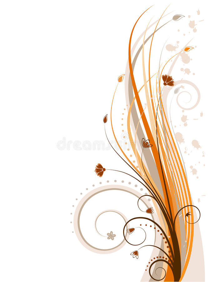 Projeto floral (incl do vetor) imagem de stock royalty free
