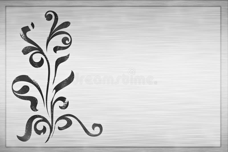 Projeto floral no metal de aço ilustração do vetor