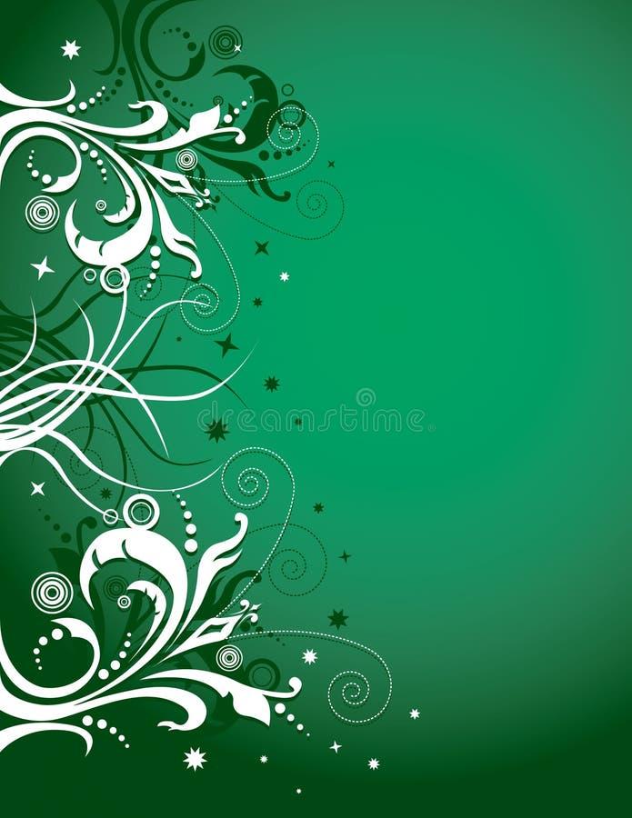 Projeto floral no verde ilustração stock