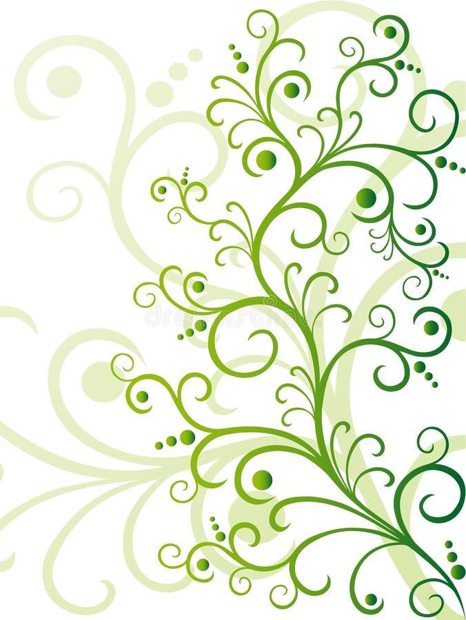 Projeto floral verde ilustração stock