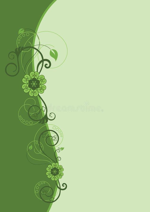 Projeto floral verde da beira ilustração do vetor