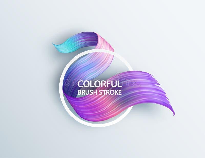 projeto fluido líquido do sumário 3d Fundo moderno colorido ilustração stock
