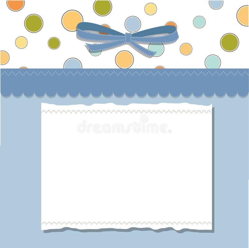 Projeto fresco do quadro do molde para o cartão ilustração stock