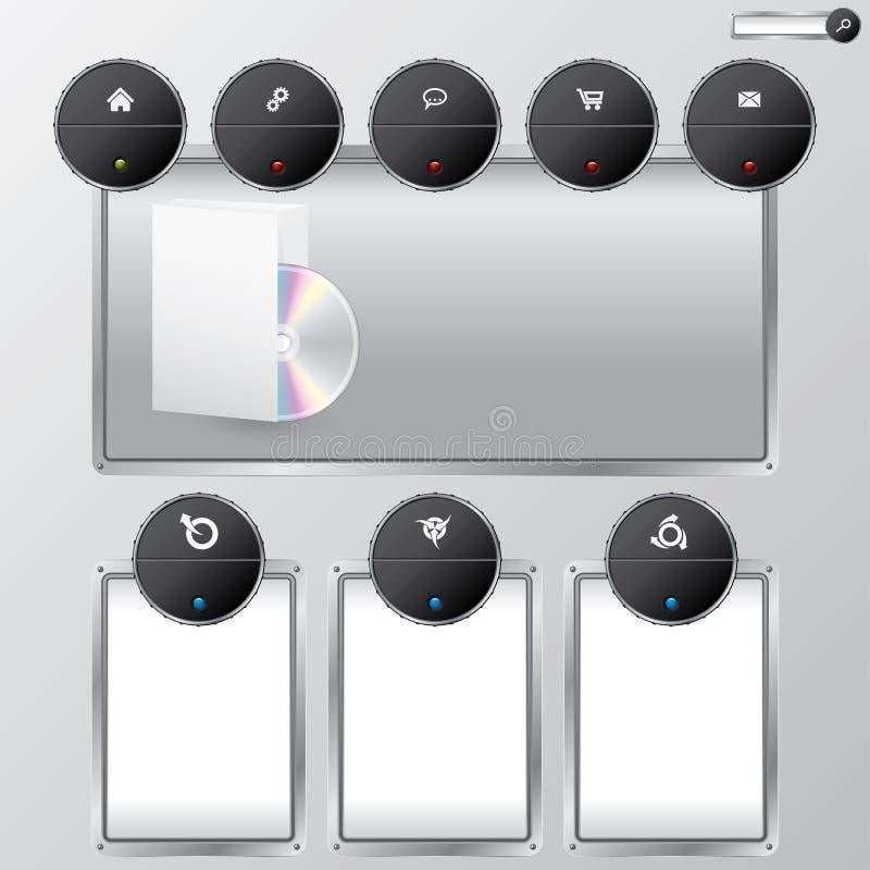 Projeto fresco do Web site da nova tecnologia ilustração do vetor