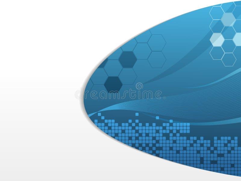 Projeto futurista azul ilustração stock