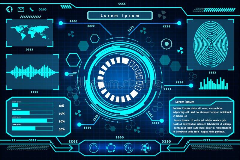 Projeto futurista da tecnologia da relação ilustração royalty free