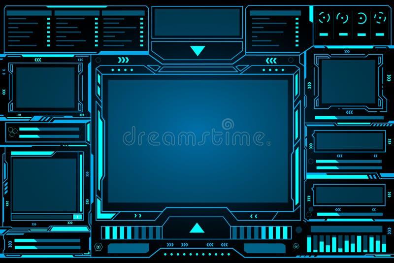 Projeto futurista do fundo do hud da relação da tecnologia do sumário do painel de controle ilustração do vetor