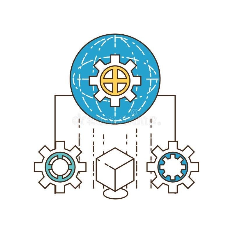 Projeto futuro das tecnologias ilustração stock