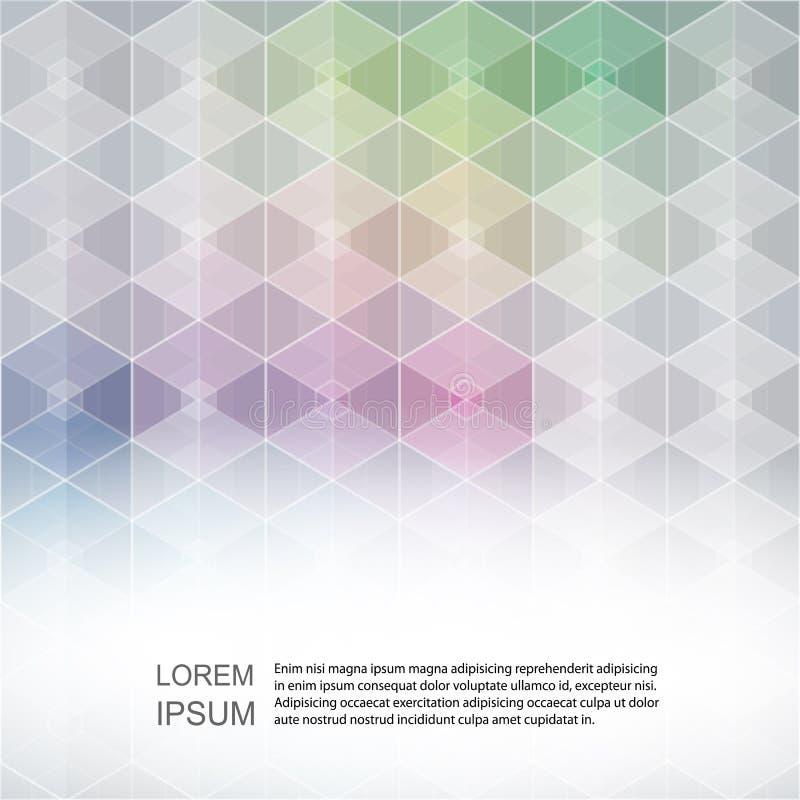 Projeto futuro futurista digital geométrico colorido cinzento do fundo da tecnologia do conceito poligonal abstrato da tecnologia ilustração royalty free