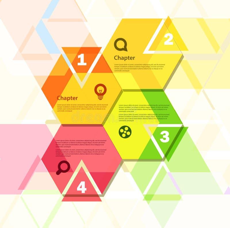 Projeto geométrico abstrato ilustração do vetor