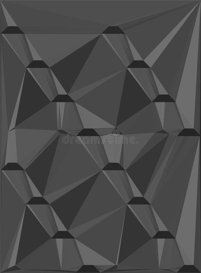 Projeto geométrico cinzento ilustração royalty free
