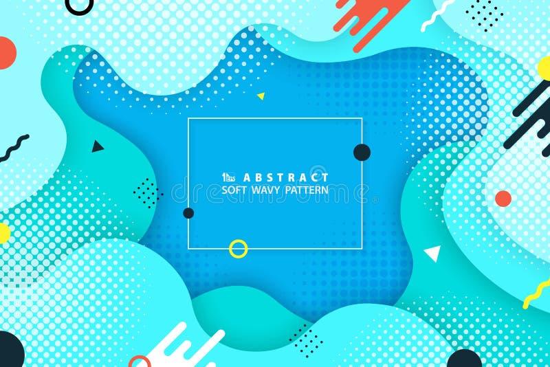 Projeto geométrico colorido da forma do sumário do fundo moderno Você pode usar-se para o molde da Web, anúncio da fantasia, cart ilustração royalty free