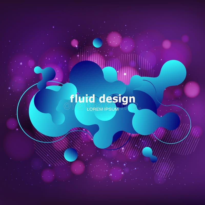 Projeto geométrico colorido do fundo Composição fluida w das formas ilustração do vetor
