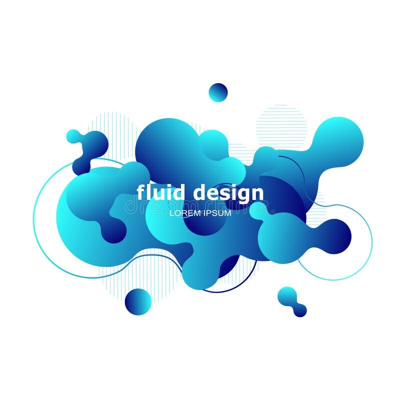 Projeto geométrico colorido do fundo Composição fluida w das formas ilustração royalty free