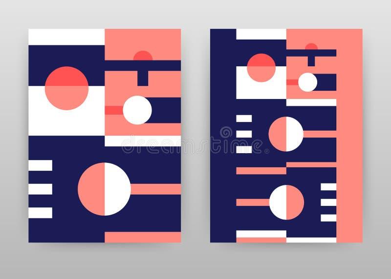 Projeto geométrico das formas de círculo para o informe anual, folheto, inseto, cartaz Ilustração abstrata do vetor do fundo da g ilustração stock