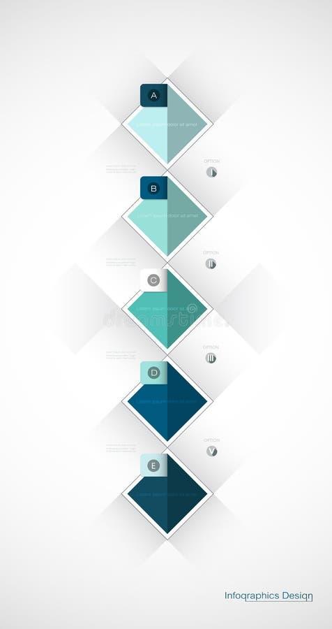 Projeto geométrico do molde da etiqueta de Infographic 3d do vetor ilustração royalty free