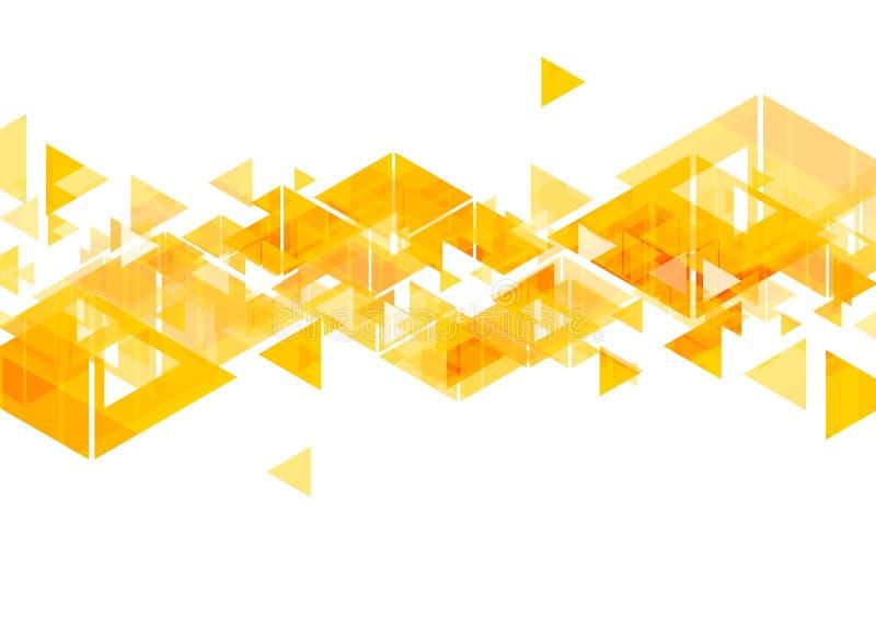 Projeto geométrico do sumário alaranjado dos triângulos ilustração royalty free