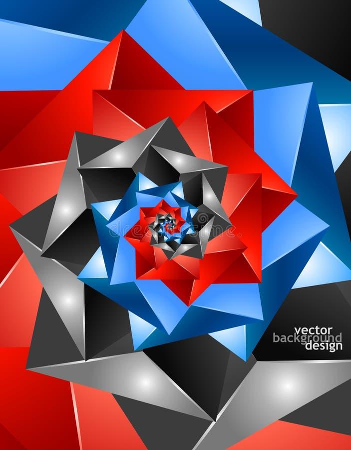 Projeto geométrico do sumário do fundo do vetor ilustração royalty free