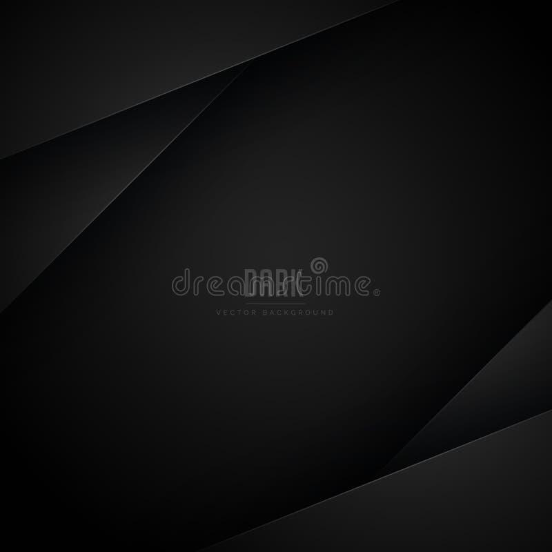 Projeto geométrico preto abstrato do fundo ilustração royalty free