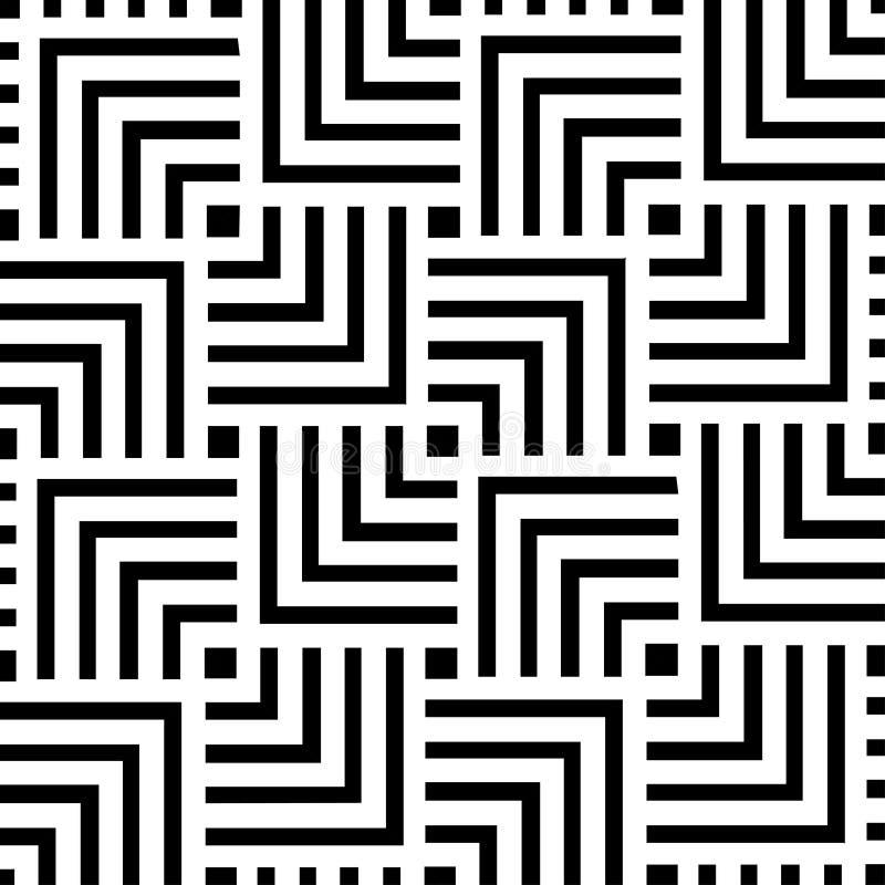 Projeto geométrico preto e branco do fundo do teste padrão | Arte moderna abstrata decorativa ilustração royalty free