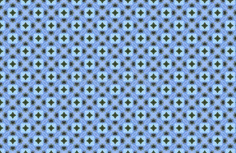 Projeto geométrico verde azul do teste padrão do mosaico branco ilustração do vetor