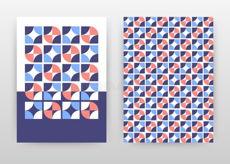 Projeto geométrico vermelho azul colorido do fundo do negócio para o informe anual, folheto, inseto, cartaz Molde abstrato do fol ilustração do vetor