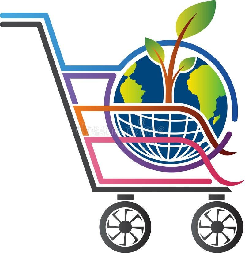 Projeto global da árvore da compra ilustração stock