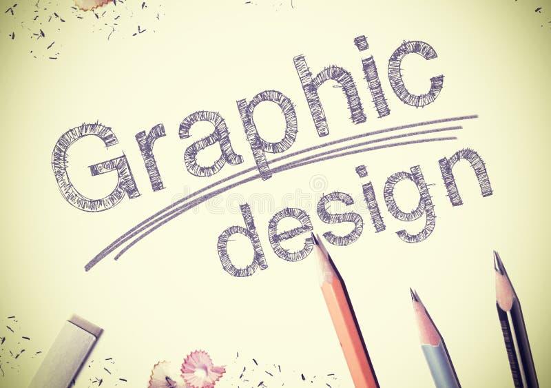 Projeto gráfico fotografia de stock