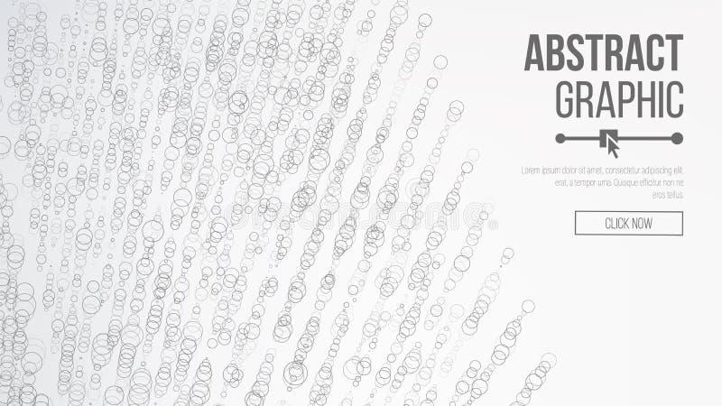 Projeto gráfico abstrato ondulado Sentido moderno do fundo da ciência e da tecnologia Ilustração do vetor O sumário pontilha o fu ilustração stock