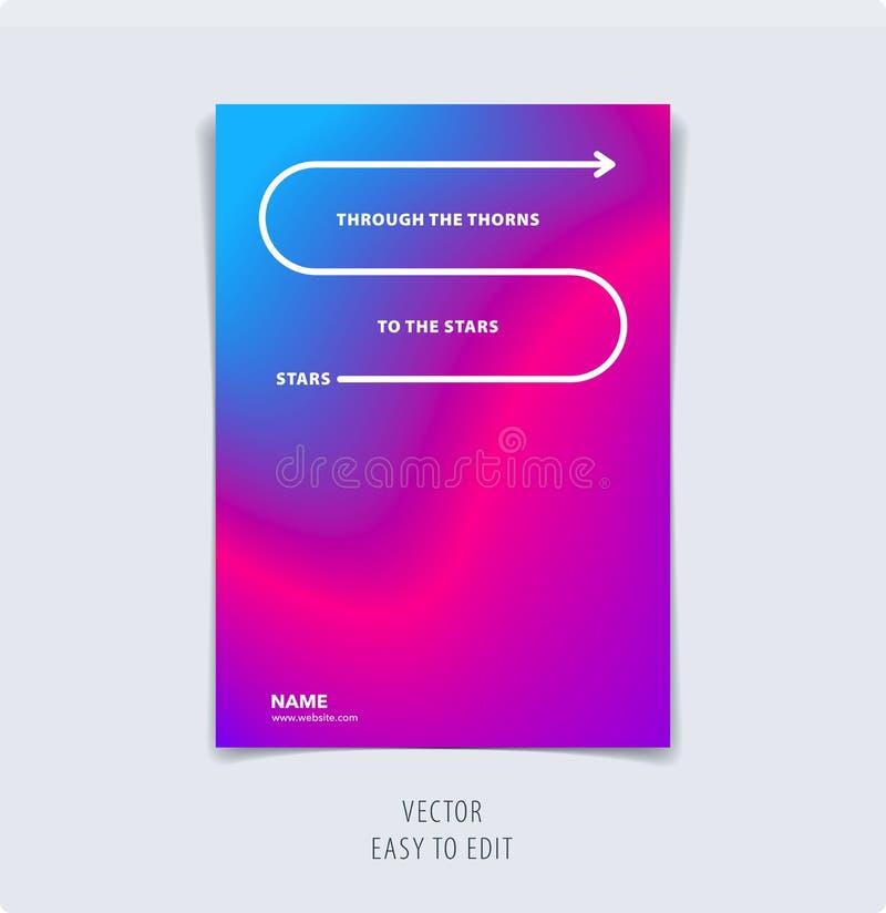 Projeto gráfico colorido abstrato do folheto no estilo líquido fluido com fundo liso borrado ilustração do vetor