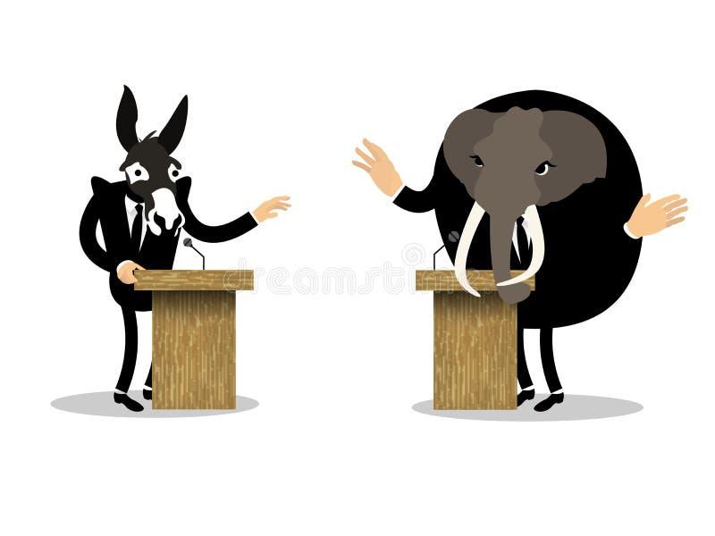 Projeto gráfico conceptual bonito do debate ilustração do vetor