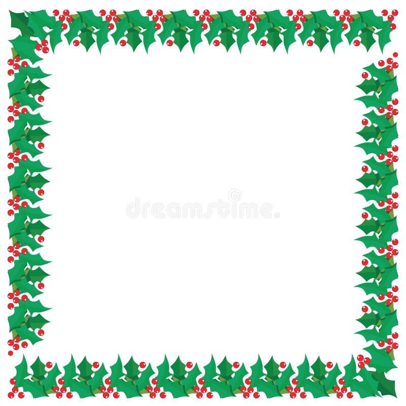 Projeto gráfico da beira festiva de Holly Berries do Natal ilustração do vetor