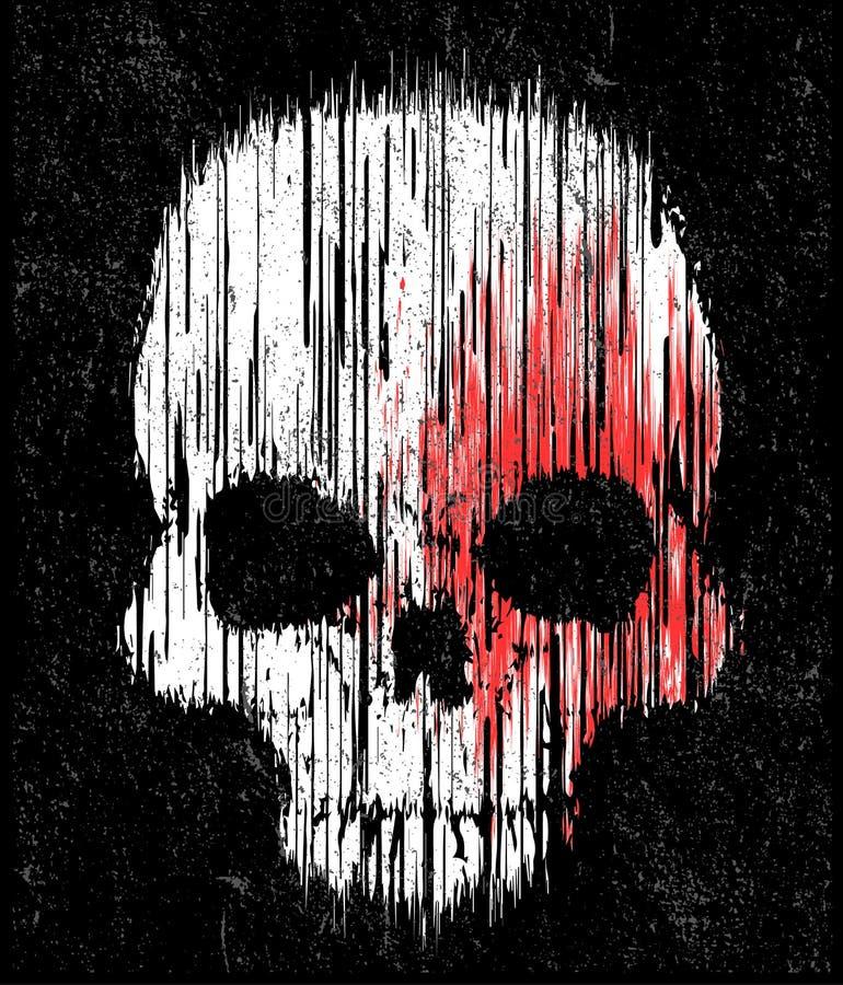 Projeto gráfico da camisa do crânio T ilustração royalty free