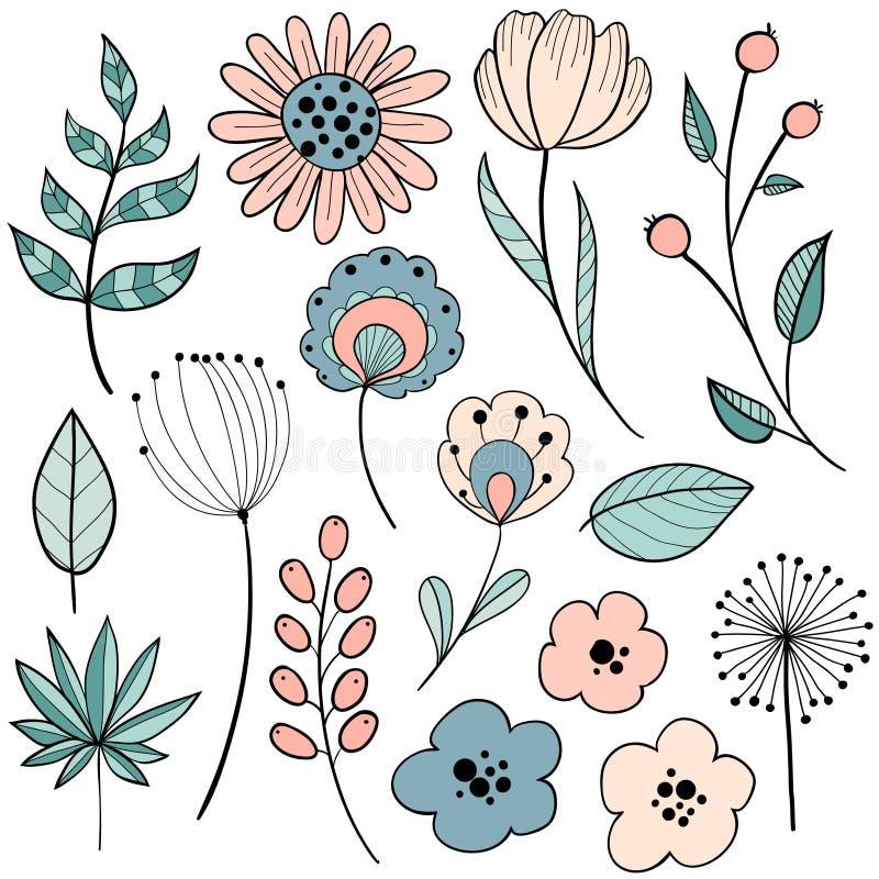Projeto gráfico da flor ilustração stock