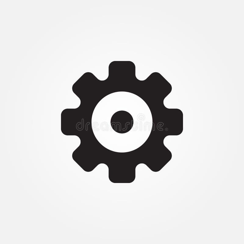 Projeto gráfico da ilustração do ícone do vetor das engrenagens ilustração stock