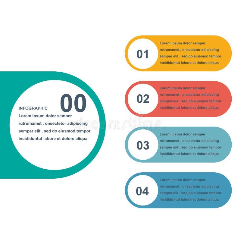 Projeto gráfico da informação da carta, conceito do negócio imagem de stock royalty free