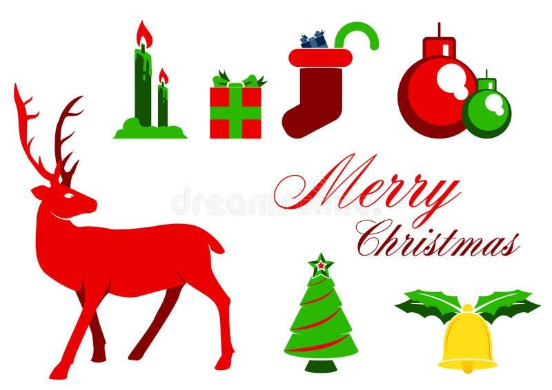 Projeto gráfico de Elemnet do Natal ilustração royalty free
