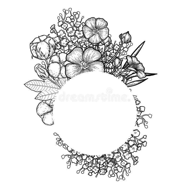Projeto gráfico de linho e de algodão ilustração royalty free