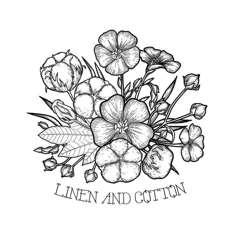 Projeto gráfico de linho e de algodão ilustração stock