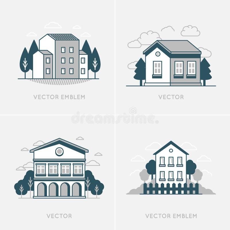 Projeto gráfico de vetor e molde do projeto do logotipo ilustração royalty free