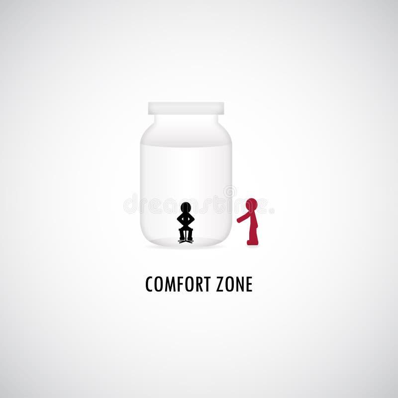 Projeto gráfico de zona de conforto ilustração stock